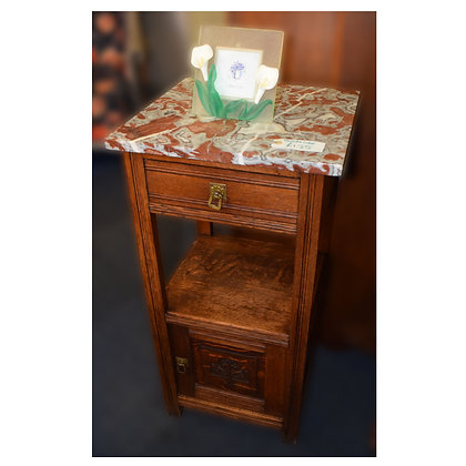 Edwardian Bedside with Marble Top Ref: 402
