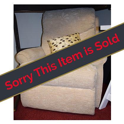 Cream Fabric Arm Chair Ref: 189