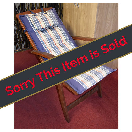 Pair of Reclining Patio Chairs Ref: 425