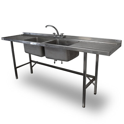 2.1m Stainless Steel Double Sink (Ref: RHC5200)