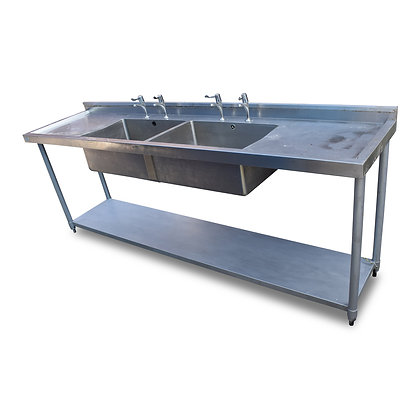 2.4m Double Stainless Steel Sink (SS636)