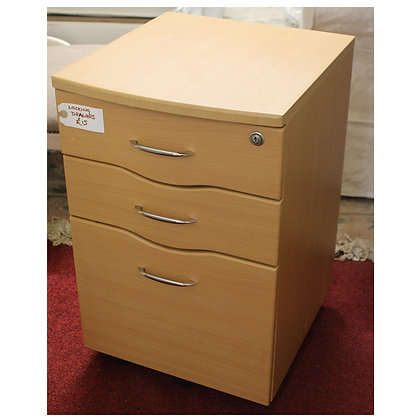 Light Wood Lockable Drawers Ref: 336