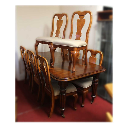 Reproduction Victorian Dining Table & 8 Chairs Ref: A490