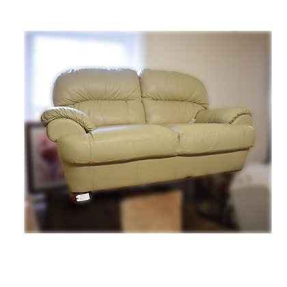 Light Green Two Seater Settee Ref: 364