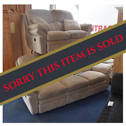 Fabric 3 Seater & 2 Seater Electric Recliner (Ref: 765)