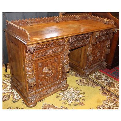 Antique Ornate Desk/Sideboard Ref: A450