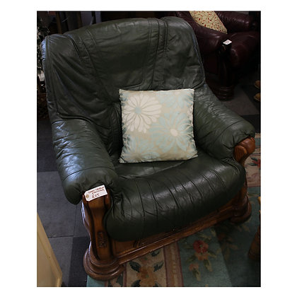 Green Leather Arm Chair Ref: 275