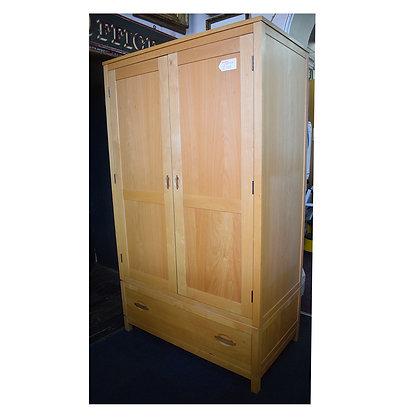 Solid Beechwood Double Wardrobe (Ref: 748)