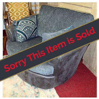 Grey Fabric Snuggle Chair Ref: 471