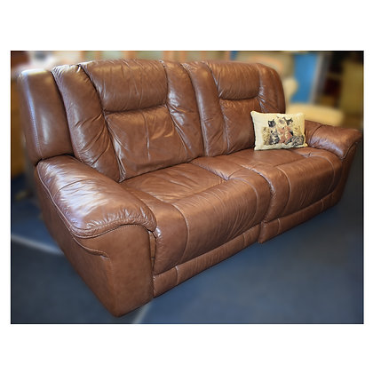 Brown Leather Electric Recliner Ref: 414