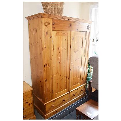 Pine Double Door Wardrobe (Ref: 755)