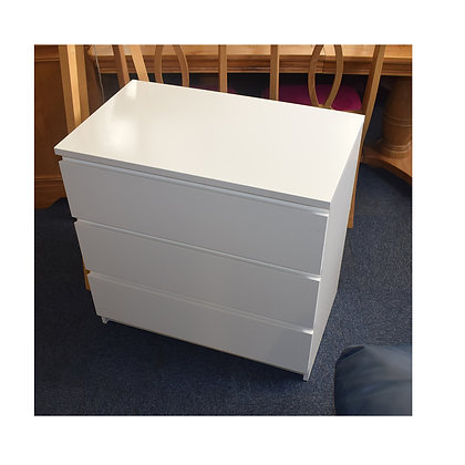 Modern White Chest of Drawers x3 (Ref: 770)