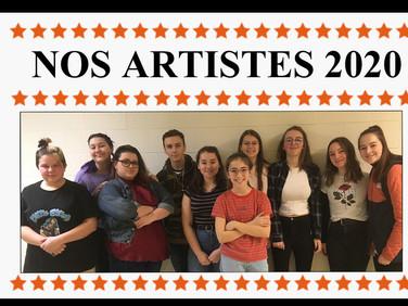 Artistes édition 2020