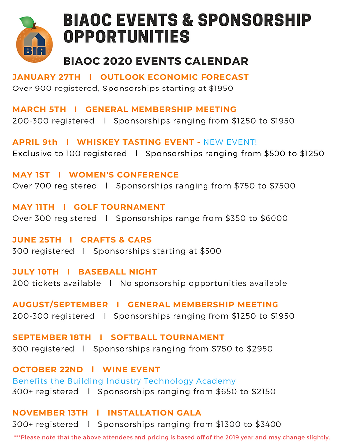 biaoc events & sponsorship opportunities