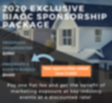 2020 Exclusive BIAOC Sponsorship Package