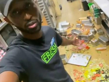 Employee Trashes Subway To Get Meek Mill's Attention