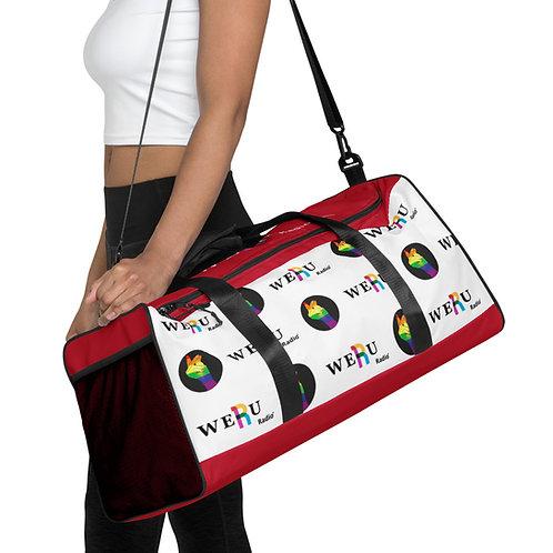 WERUradio Signature  Logo Red Duffle Bag