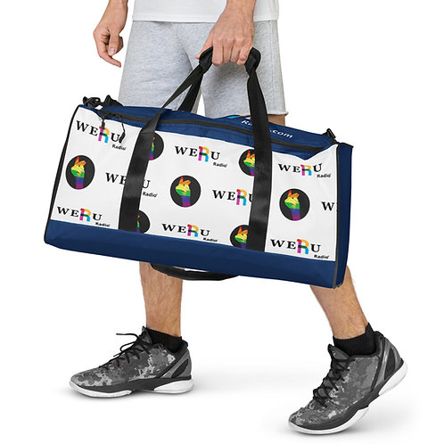 WERUradio  Signature Logo Navy Duffle bag