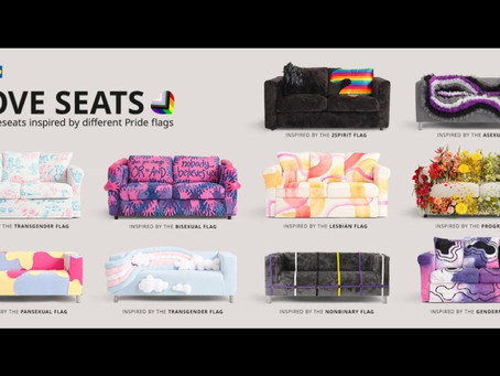 IKEA Unveils LoveSeats Inspired By Pride Flags