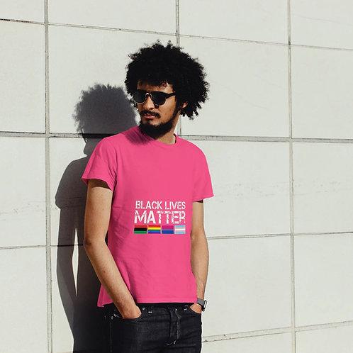 Black Lives Matter LGBTQ Flags Short-Sleeve Unisex T-Shirt