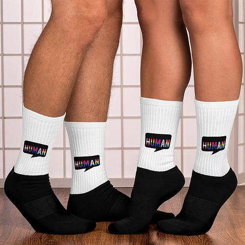 Human Logo Socks