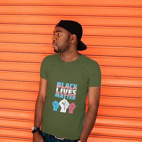 Black Lives Matter Trans Fist Short-Sleeve Unisex T-Shirt