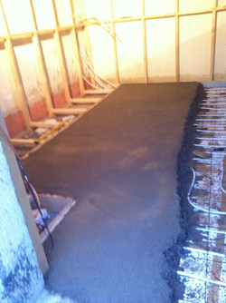 FAse IV: Betonvloer met verwarming