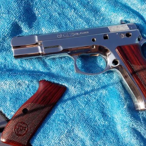 AFTER: Polished Bright Nickel Plated CZ 75