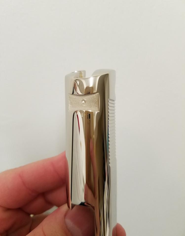Bright Nickel Colt 1911 Slide After