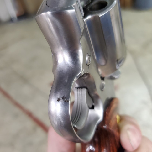 BEFORE: Stainless Steel Colt Anaconda With Pitting