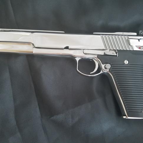 Chrome Automag V .50 caliber