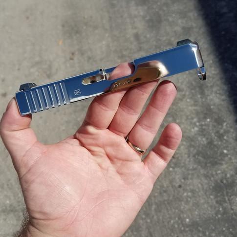 Mirror Nickel Glock 27 Slide