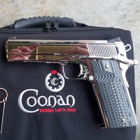 Mirror Polished Coonan .357 magnum pistol