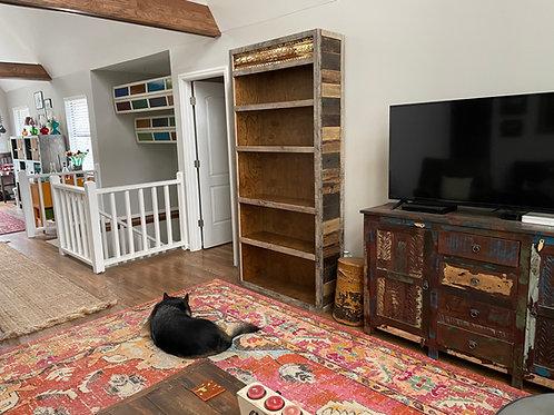 Reclaimed Wood/Tin Bookshelf