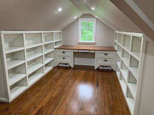 Built in Shelves/Desk