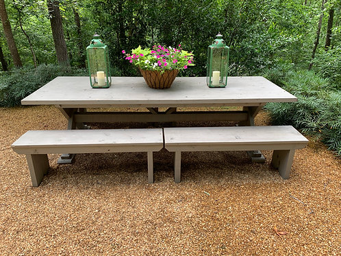Cedar outdoor dining table