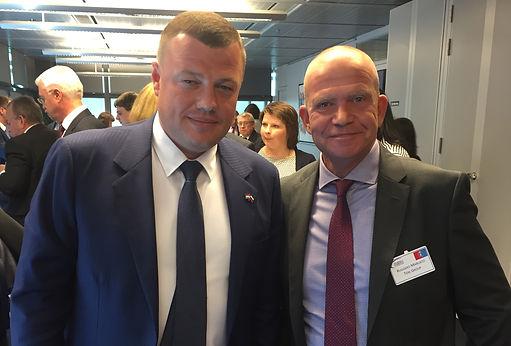 Ruggero Marcato avec Alexander Nikitin, chef de l'administration de la région de Tambov