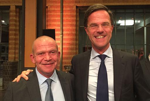 Ruggero Marcato avec le premier ministre Mark Rutte