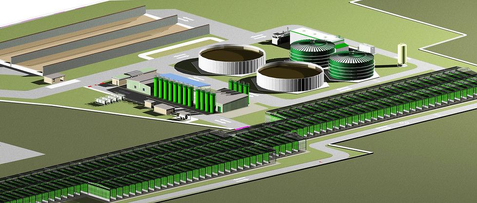 Nouvelle installation carrés pour la production de microalgues