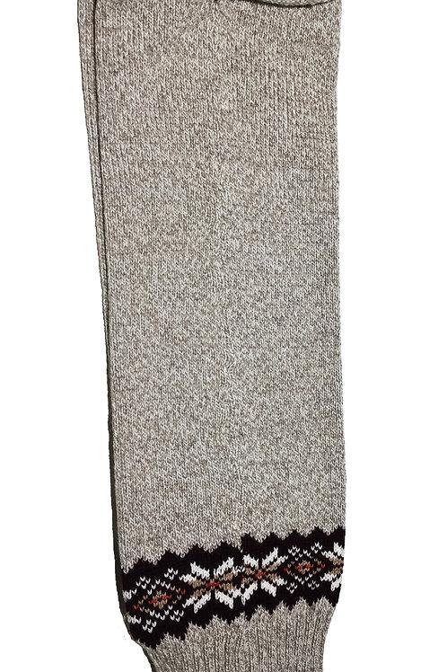Baltic Inspirations Wool Leg Warmers, Holiday Gray