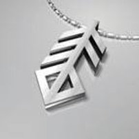 Silver Necklace Runic Music