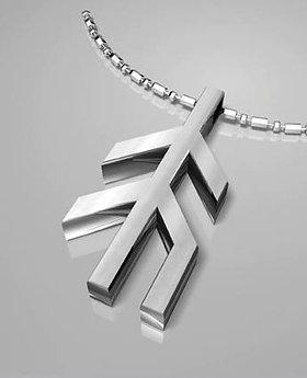 Sliver Necklace Runic Hope Symbol