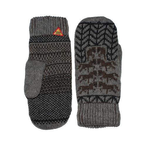 Gotland Grå 100% Merino Wool Mittens