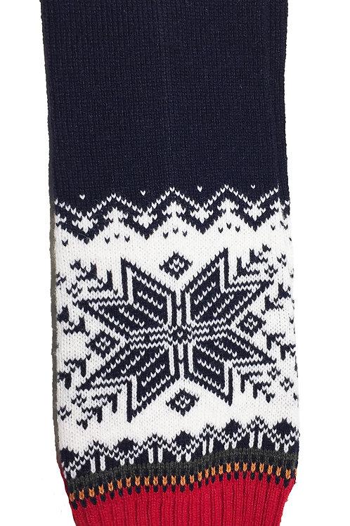 Baltic Inspirations Wool Leg Warmer, Snowflake Blue