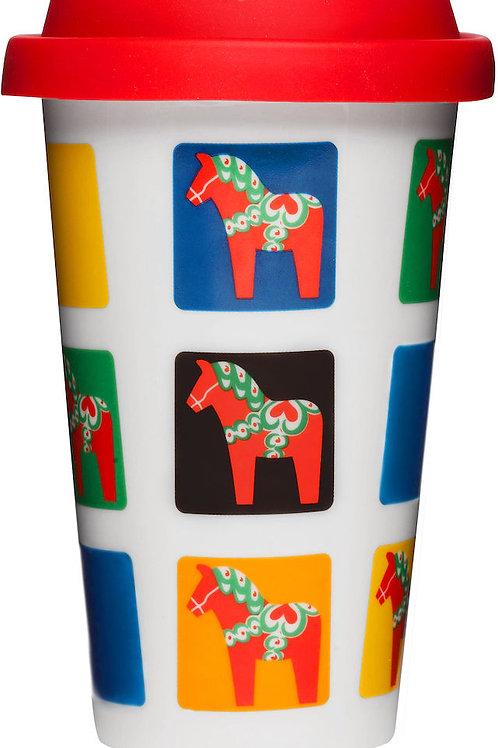 Sagaform Travel Mug, Dala Horse