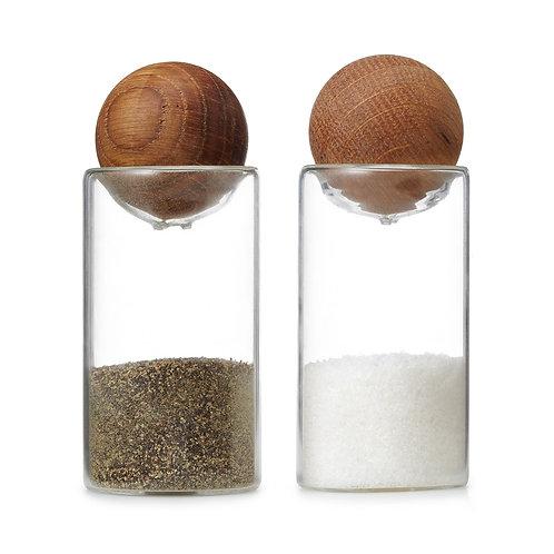 Oval Oak Salt & Pepper shakers