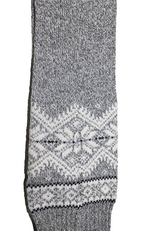 Baltic Inspirations Wool Leg Warmers, Snowflake Gray