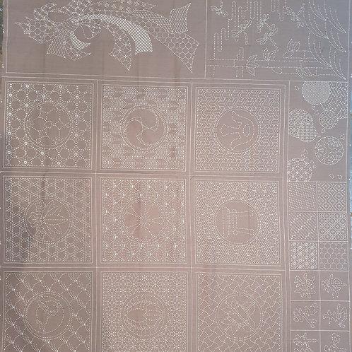 Sashiko panel selections grey