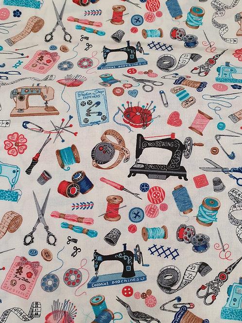 Sew vintage fabric cream