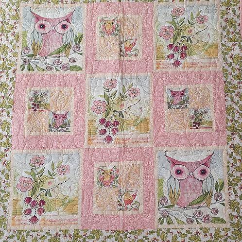 Woodland owls Cot quilt